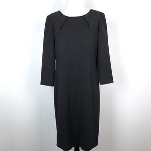 Lafayette 148 Pleated Neck Sheath Dress